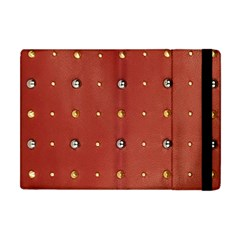 Studded Faux Leather Red Apple iPad Mini Flip Case