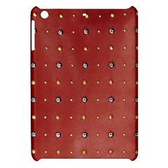 Studded Faux Leather Red Apple iPad Mini Hardshell Case