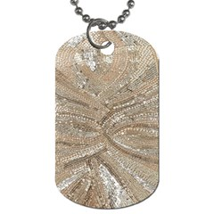 Tri Colored Bling Design Twin Sided Dog Tag
