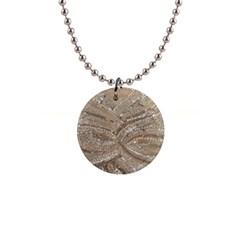 Tri Colored Bling Design Mini Button Necklace