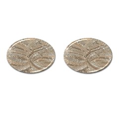 Tri-Colored Bling Design Oval Cuff Links