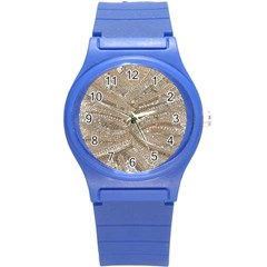 Tri-Colored Bling Design Round Plastic Sport Watch Small