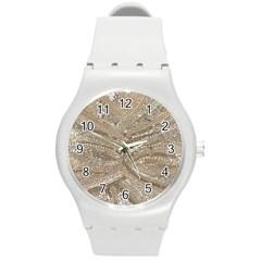 Tri-Colored Bling Design Round Plastic Sport Watch Medium