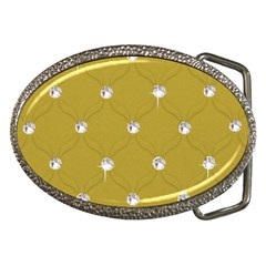 Gold Diamond Bling  Belt Buckle (Oval)