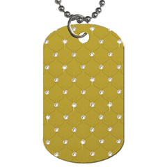 Gold Diamond Bling  Single-sided Dog Tag