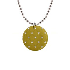 Gold Diamond Bling  Mini Button Necklace