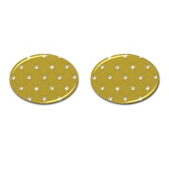 Gold Diamond Bling  Oval Cuff Links