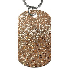Light and Dark Sequin Design Single-sided Dog Tag