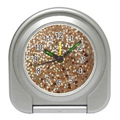Light and Dark Sequin Design Desk Alarm Clock