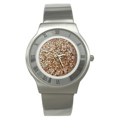 Light And Dark Sequin Design Stainless Steel Watch (round)