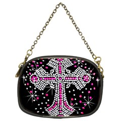 Hot Pink Rhinestone Cross Twin-sided Evening Purse