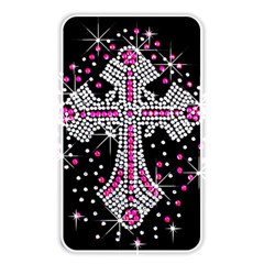 Hot Pink Rhinestone Cross Card Reader (rectangle)