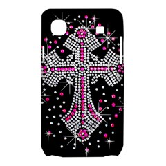 Hot Pink Rhinestone Cross Samsung Galaxy SL i9003 Hardshell Case