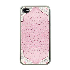 Hot Pink Western Tooled Leather Look Apple iPhone 4 Case (Clear)