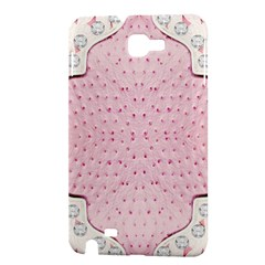 Hot Pink Western Tooled Leather Look Samsung Galaxy Note Hardshell Case