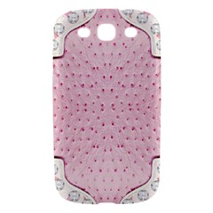Hot Pink Western Tooled Leather Look Samsung Galaxy S III Hardshell Case