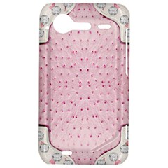 Hot Pink Western Tooled Leather Look HTC Incredible S Hardshell Case