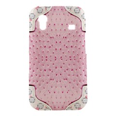 Hot Pink Western Tooled Leather Look Samsung Galaxy Ace S5830 Hardshell Case