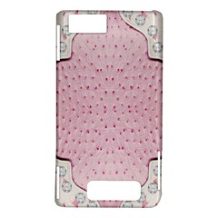Hot Pink Western Tooled Leather Look Motorola Droid X / X2 Hardshell Case