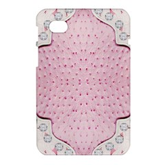 Hot Pink Western Tooled Leather Look Samsung Galaxy Tab 7  P1000 Hardshell Case