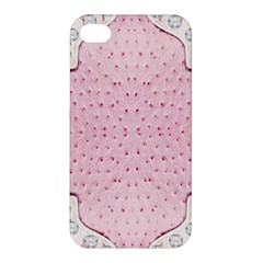 Hot Pink Western Tooled Leather Look Apple iPhone 4/4S Premium Hardshell Case