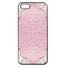 Hot Pink Western Tooled Leather Look Apple Iphone 5 Seamless Case (black)