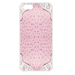 Hot Pink Western Tooled Leather Look Apple iPhone 5 Seamless Case (White)