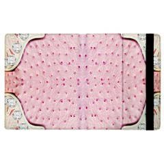 Hot Pink Western Tooled Leather Look Apple iPad 2 Flip Case