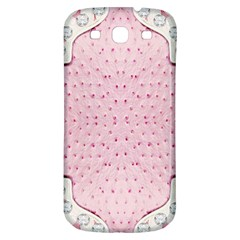Hot Pink Western Tooled Leather Look Samsung Galaxy S3 S III Classic Hardshell Back Case