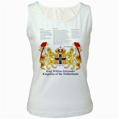 King Willem White Womens  Tank Top