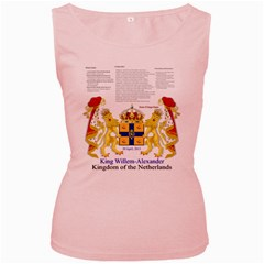 King Willem Pink Womens  Tank Top