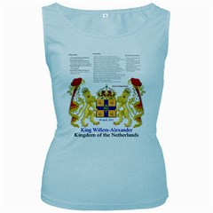 King Willem Baby Blue Womens  Tank Top