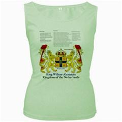 King Willem Green Womens  T-shirt