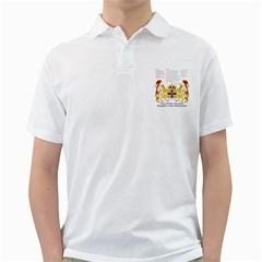 King Willem White Mens  Polo Shirt