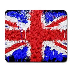 Distressed British Flag Bling Large Mouse Pad (Rectangle)