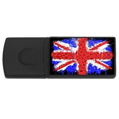 Distressed British Flag Bling 4Gb USB Flash Drive (Rectangle)