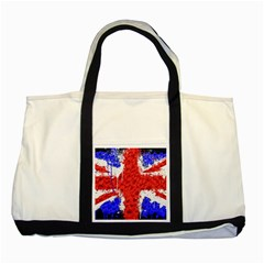 Distressed British Flag Bling Two Toned Tote Bag