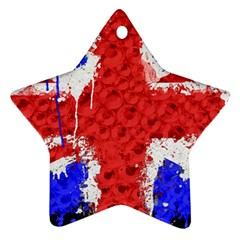 Distressed British Flag Bling Twin Sided Ceramic Ornament (star)