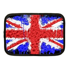 Distressed British Flag Bling 10  Netbook Case