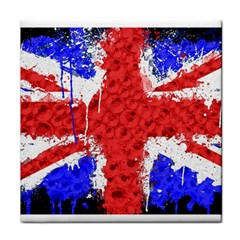 Distressed British Flag Bling Face Towel