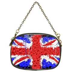 Distressed British Flag Bling Twin-sided Evening Purse
