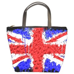 Distressed British Flag Bling Bucket Handbag