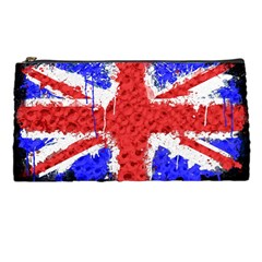 Distressed British Flag Bling Pencil Case