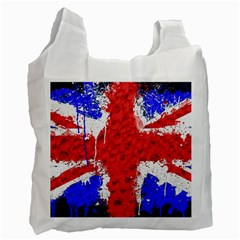Distressed British Flag Bling Single-sided Reusable Shopping Bag