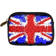 Distressed British Flag Bling Compact Camera Case