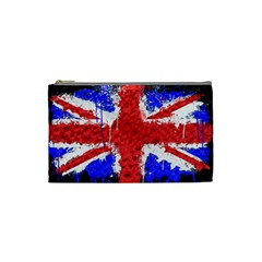 Distressed British Flag Bling Small Makeup Purse