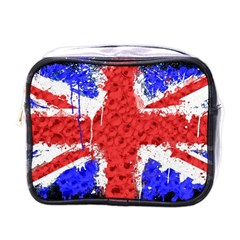 Distressed British Flag Bling Single-sided Cosmetic Case
