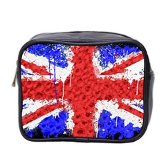 Distressed British Flag Bling Twin-sided Cosmetic Case