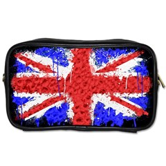 Distressed British Flag Bling Twin Sided Personal Care Bag
