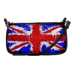 Distressed British Flag Bling Evening Bag